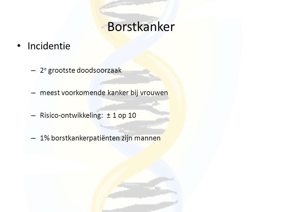 Borstkanker Incidentie 2e grootste doodsoorzaak
