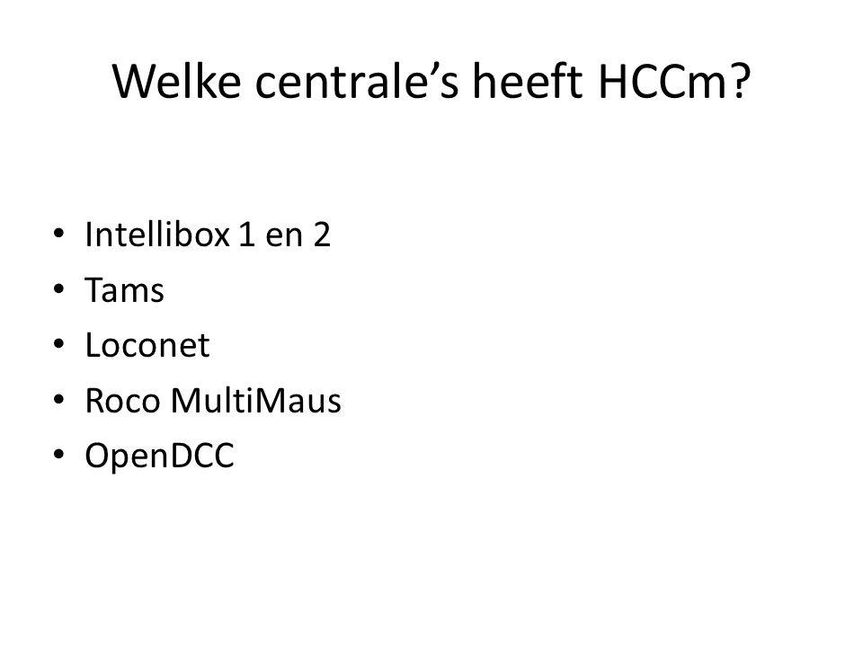 Welke centrale's heeft HCCm