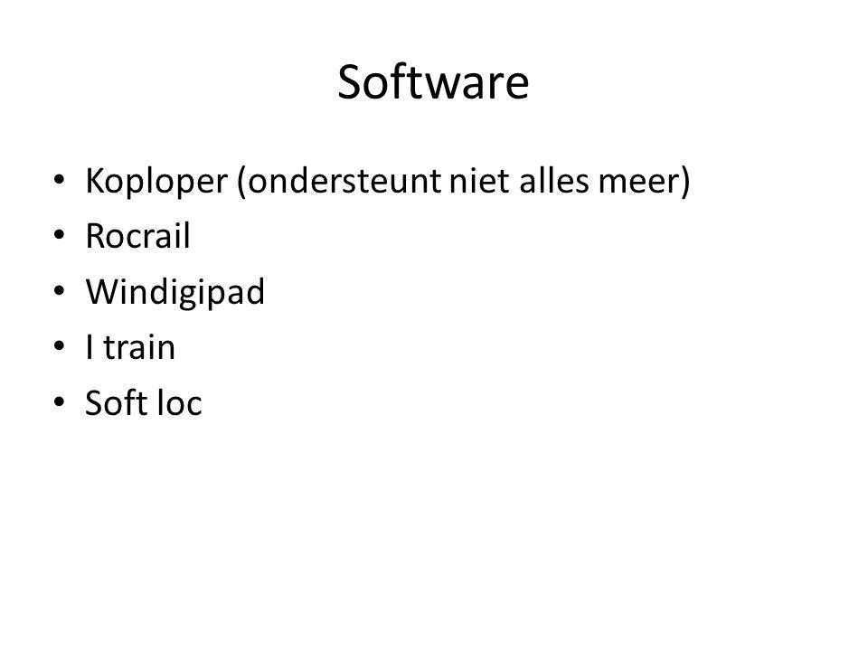 Software Koploper (ondersteunt niet alles meer) Rocrail Windigipad