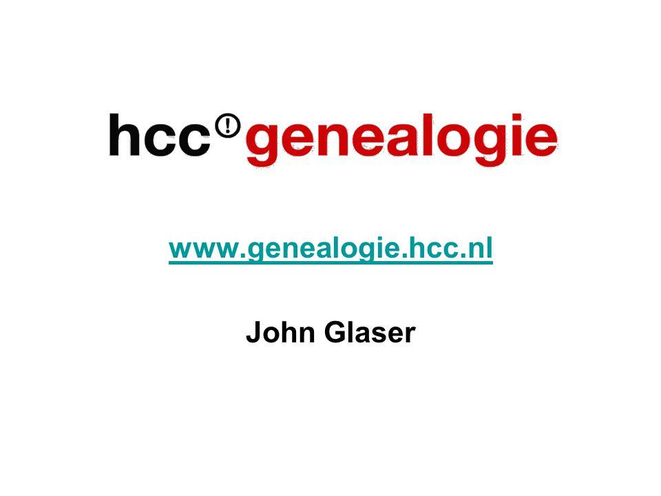 www.genealogie.hcc.nl John Glaser