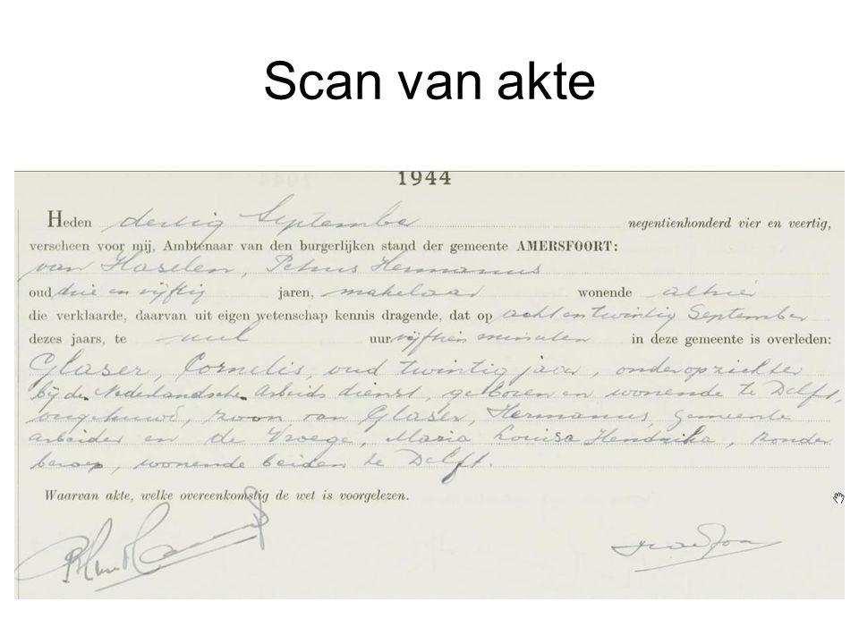 Scan van akte