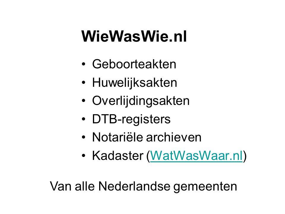Van alle Nederlandse gemeenten