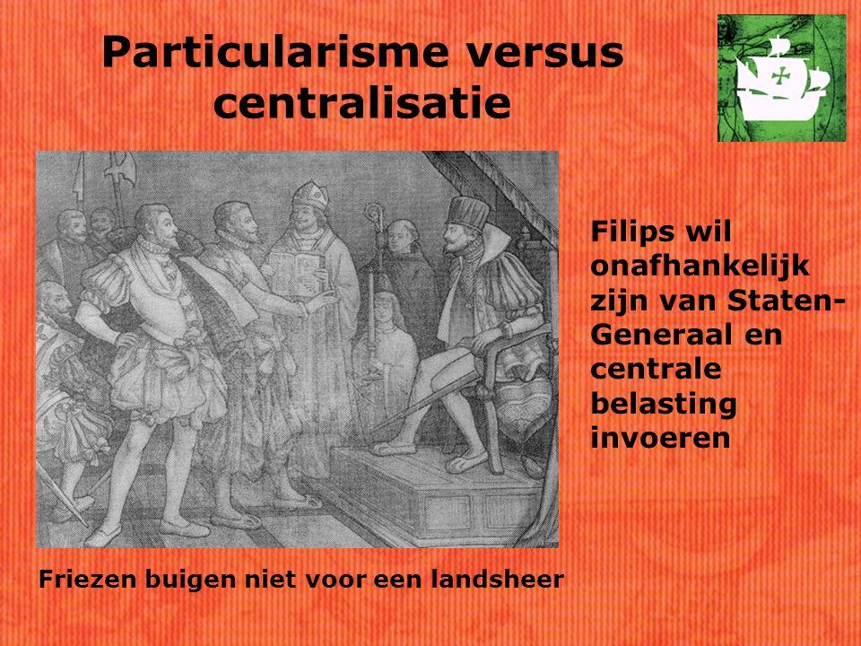Particularisme versus centralisatie