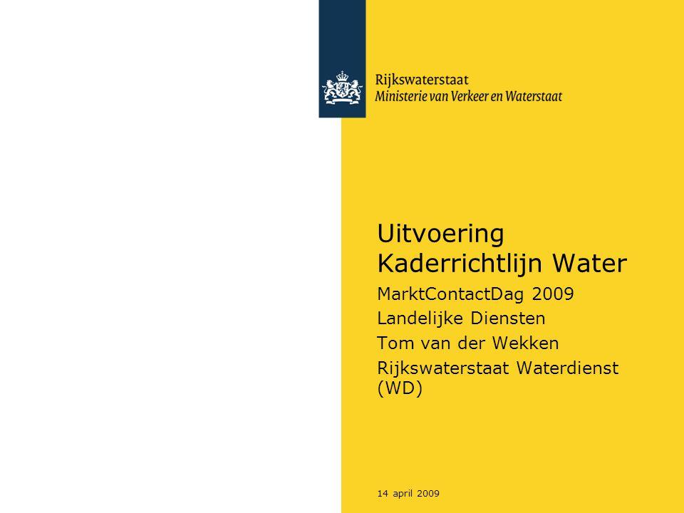 Uitvoering Kaderrichtlijn Water