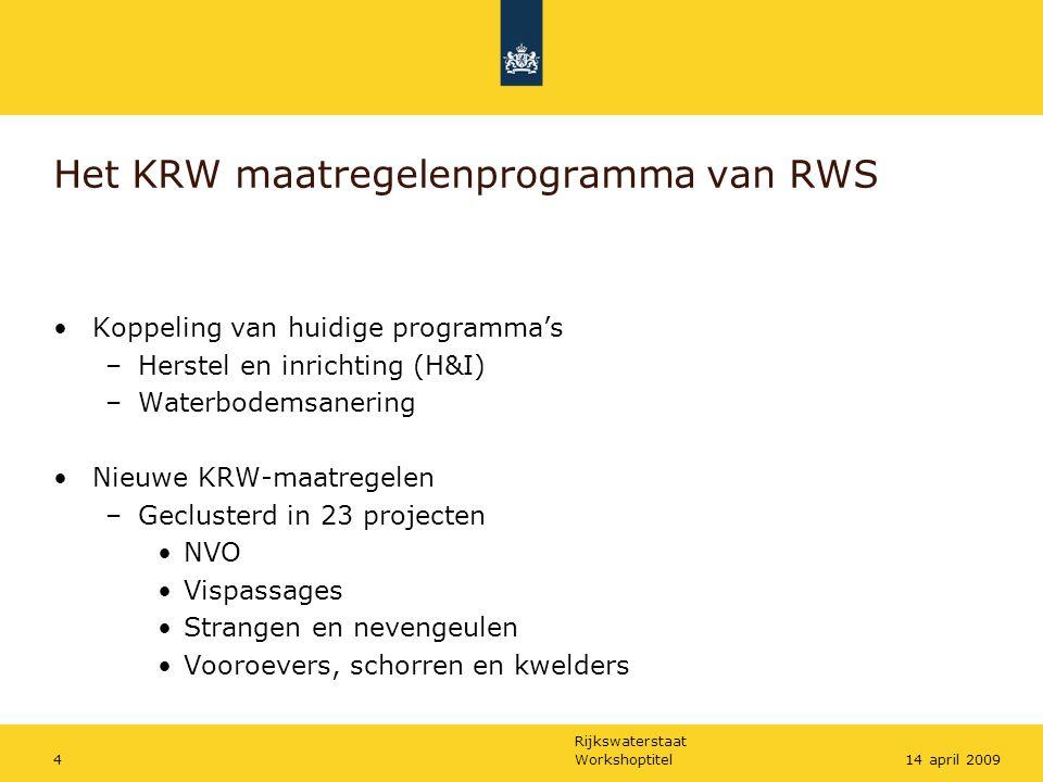 Het KRW maatregelenprogramma van RWS