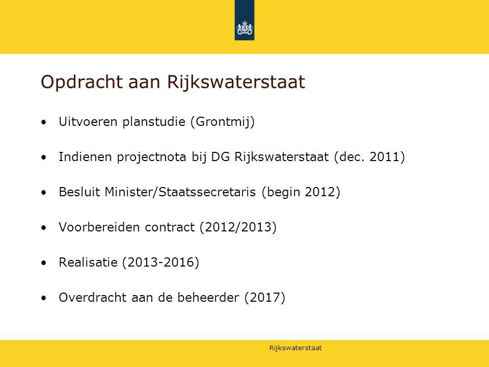 Opdracht aan Rijkswaterstaat
