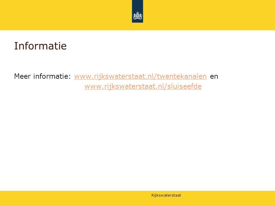 Informatie Meer informatie: www.rijkswaterstaat.nl/twentekanalen en