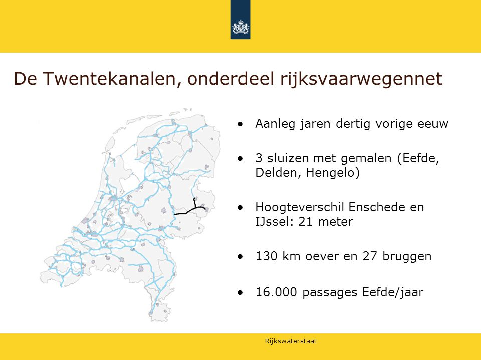 De Twentekanalen, onderdeel rijksvaarwegennet
