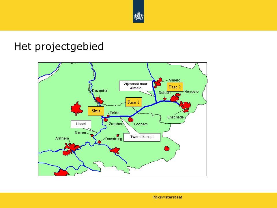 Het projectgebied 29 juni 2010 Fase 2 Fase 1 Sluis