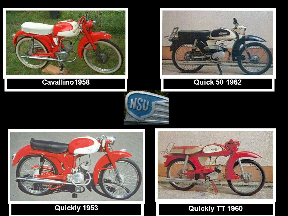 Cavallino1958 Quick 50 1962 Quickly 1953 Quickly TT 1960