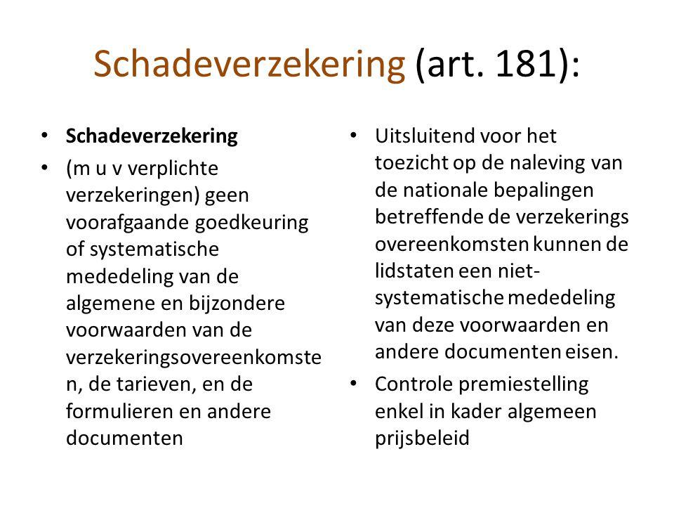 Schadeverzekering (art. 181):