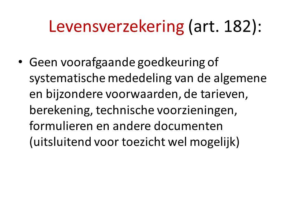 Levensverzekering (art. 182):