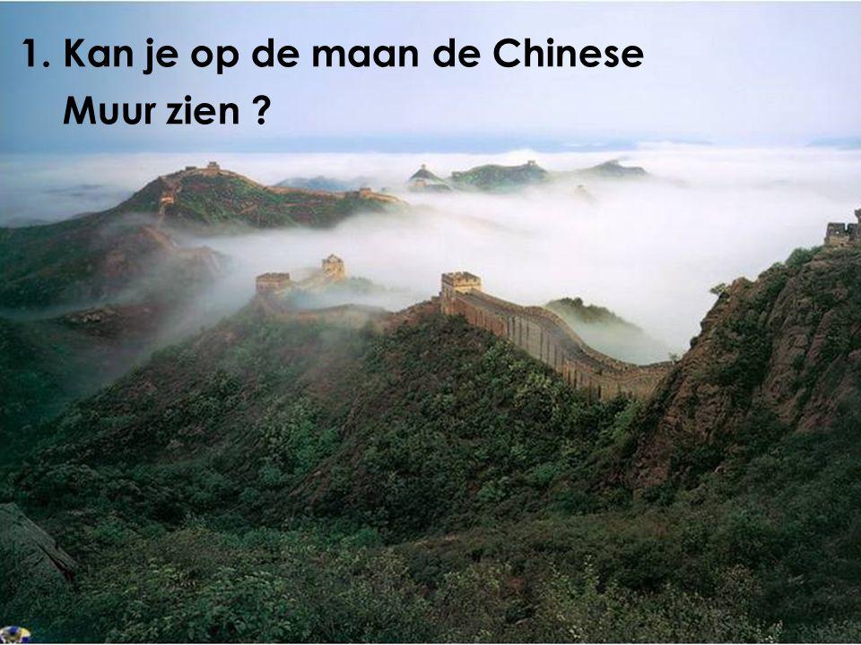 1. Kan je op de maan de Chinese