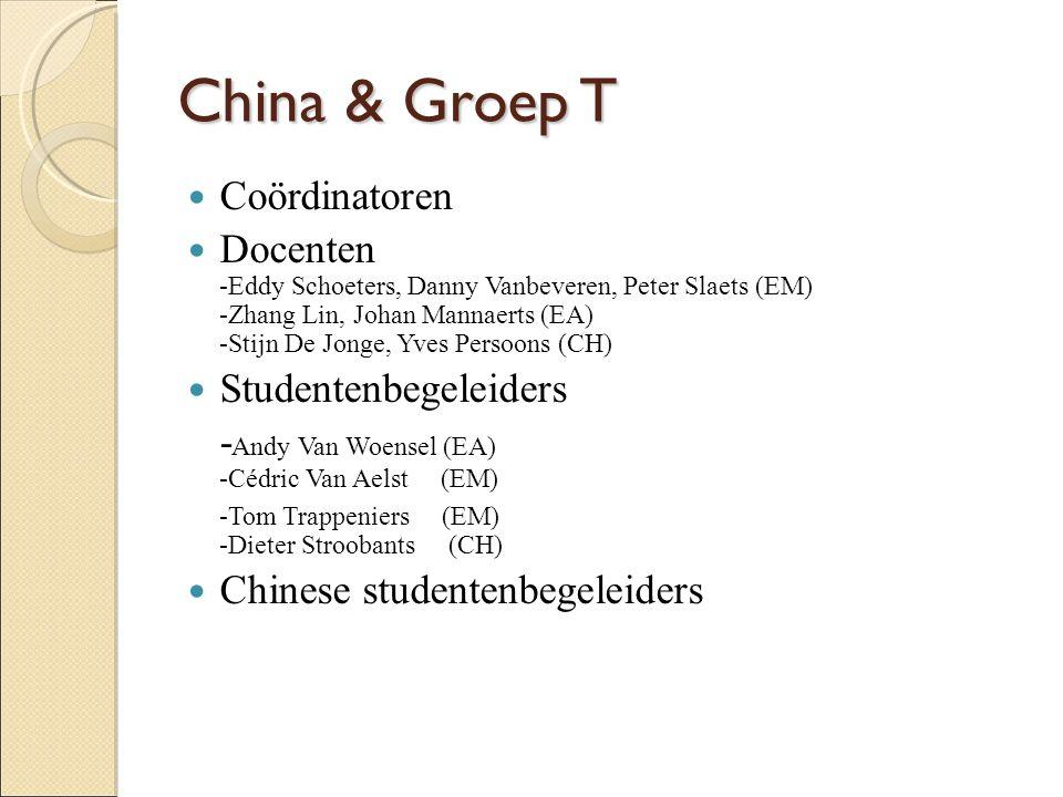 China & Groep T Coördinatoren