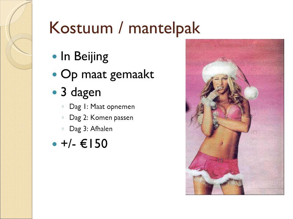 Kostuum / mantelpak In Beijing Op maat gemaakt 3 dagen +/- €150