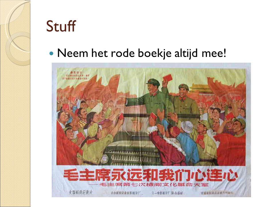 Stuff Neem het rode boekje altijd mee!