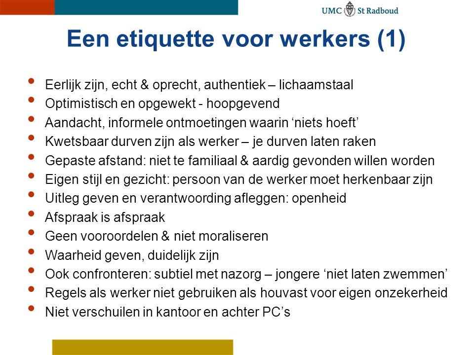 Een etiquette voor werkers (1)