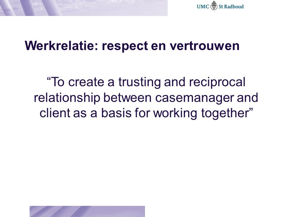Werkrelatie: respect en vertrouwen