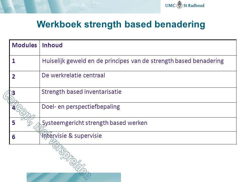 Werkboek strength based benadering
