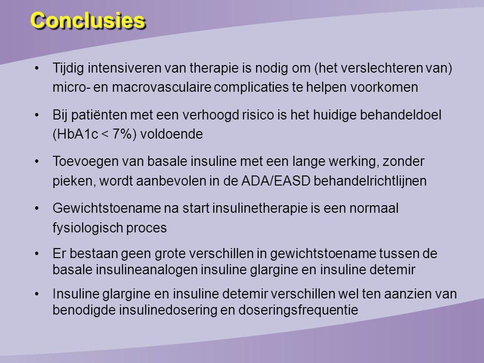 Conclusies Tijdig intensiveren van therapie is nodig om (het verslechteren van) micro- en macrovasculaire complicaties te helpen voorkomen.