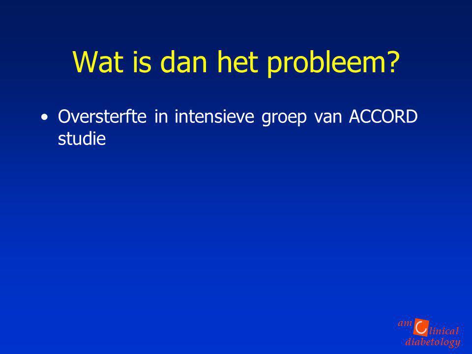 Wat is dan het probleem Oversterfte in intensieve groep van ACCORD studie
