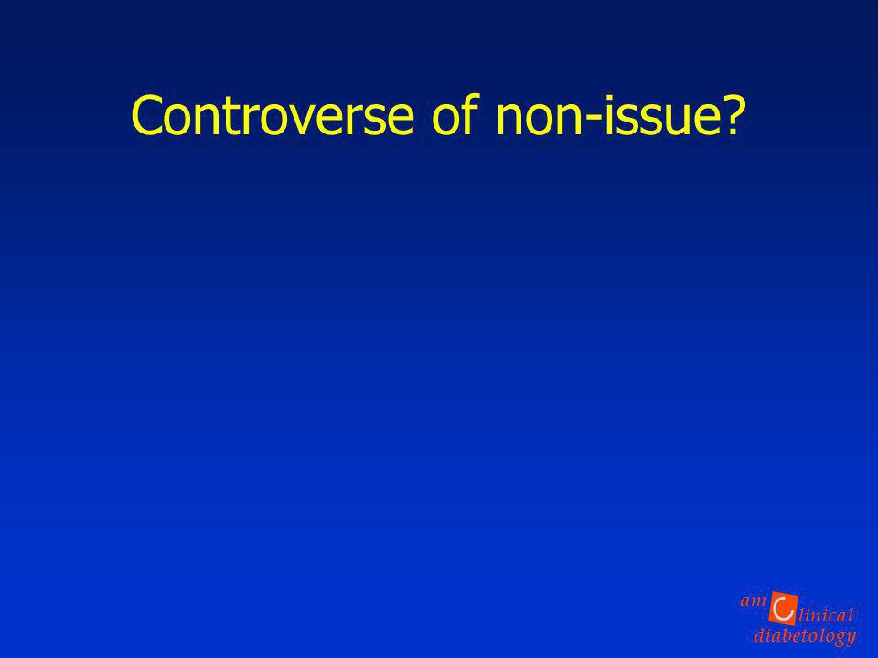 Controverse of non-issue