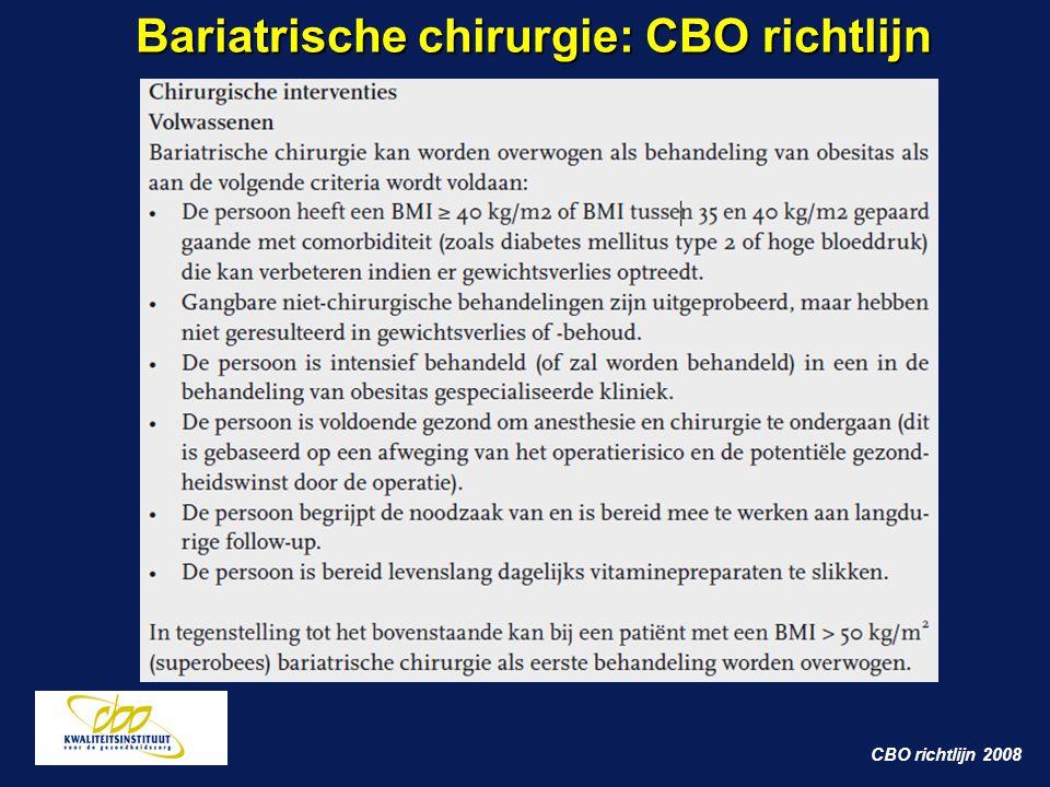 Bariatrische chirurgie: CBO richtlijn