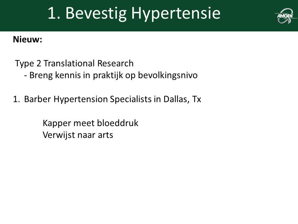 1. Bevestig Hypertensie Nieuw: Type 2 Translational Research