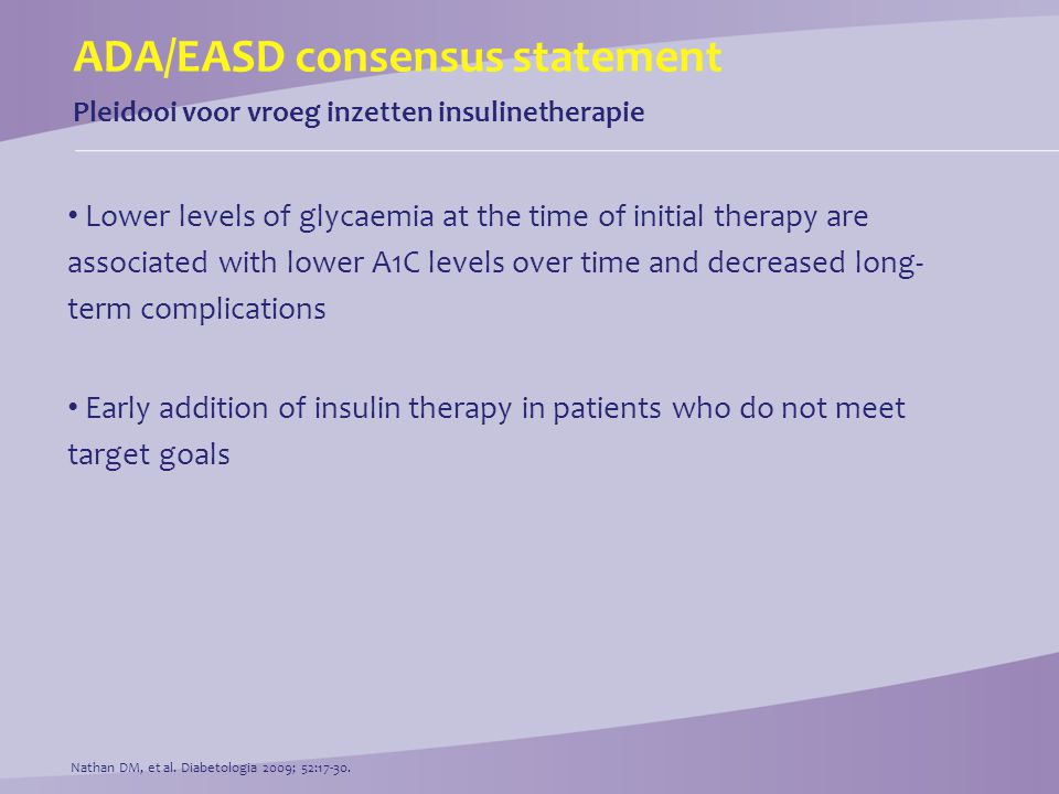 ADA/EASD consensus statement