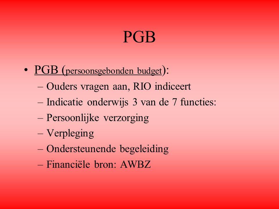 PGB PGB (persoonsgebonden budget): Ouders vragen aan, RIO indiceert