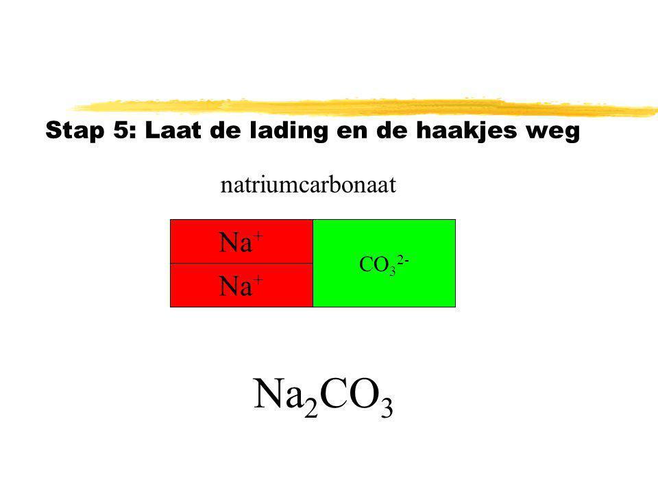 Na2CO3 Na+ Na+ natriumcarbonaat