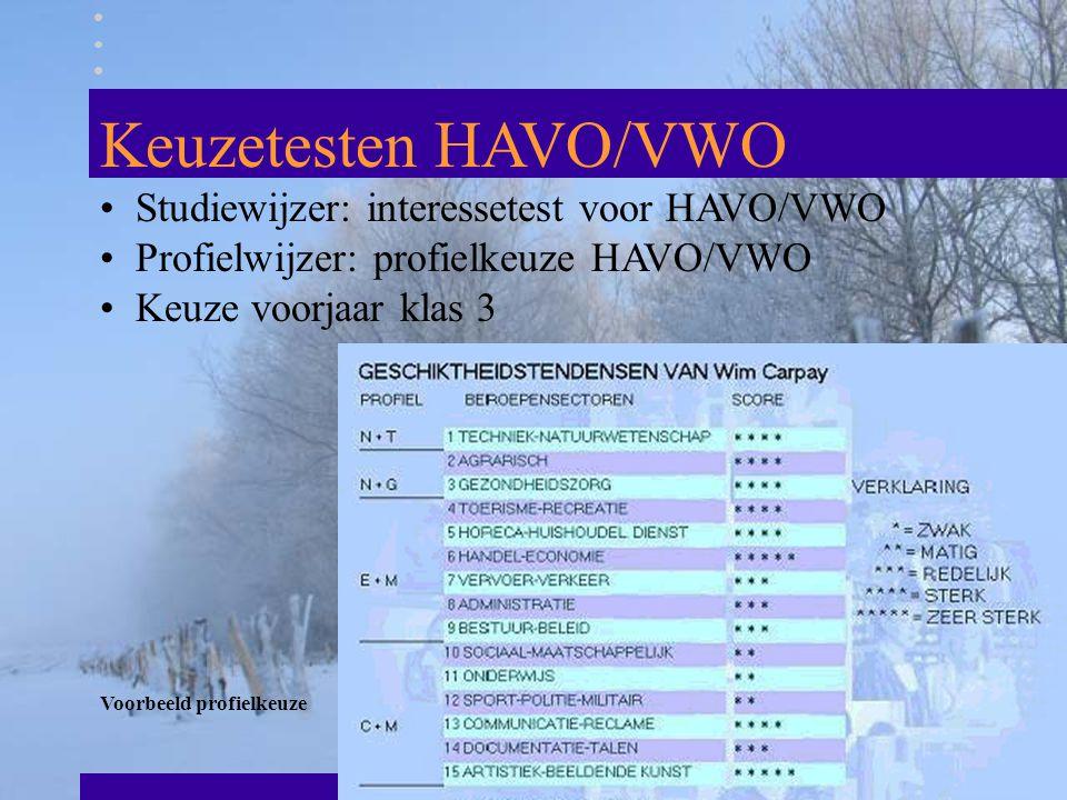 Keuzetesten HAVO/VWO Studiewijzer: interessetest voor HAVO/VWO