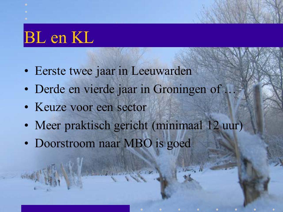 BL en KL Eerste twee jaar in Leeuwarden