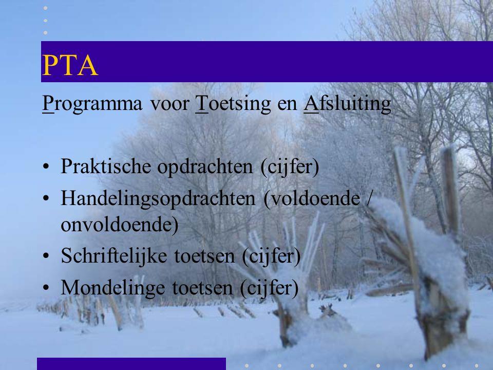 PTA Programma voor Toetsing en Afsluiting