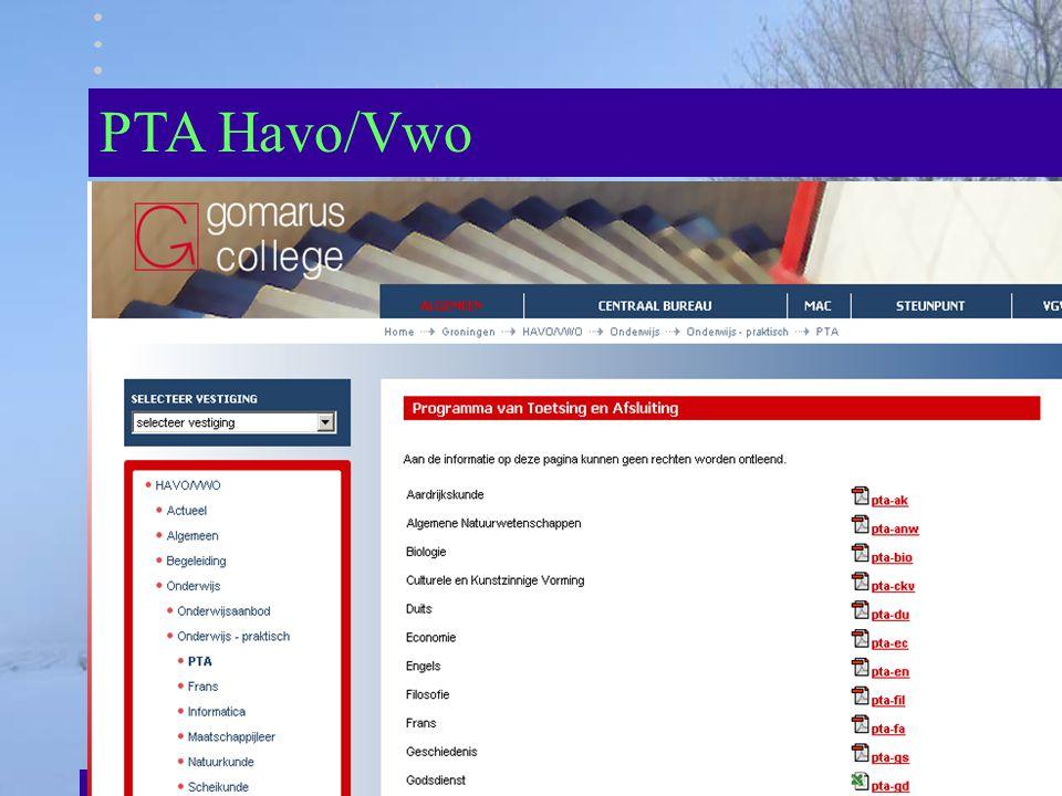 PTA Havo/Vwo