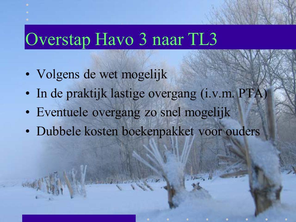 Overstap Havo 3 naar TL3 Volgens de wet mogelijk