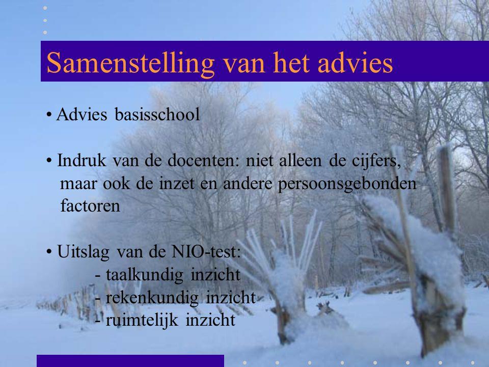 Samenstelling van het advies