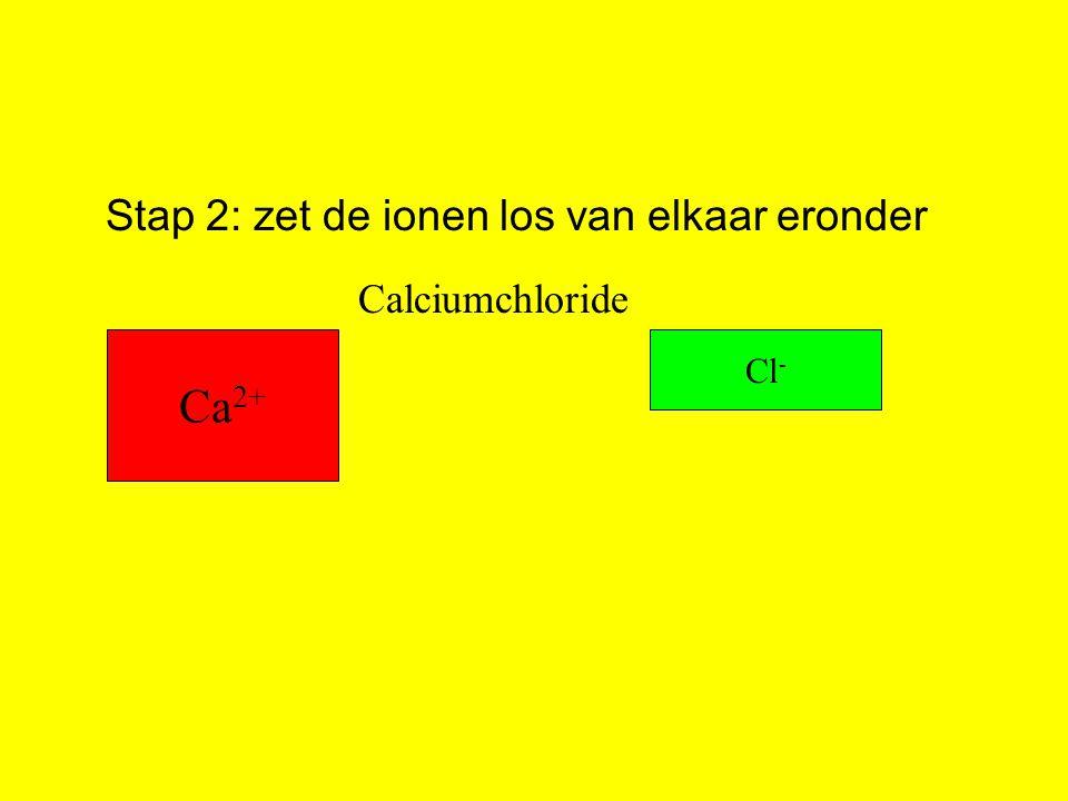 Stap 2: zet de ionen los van elkaar eronder