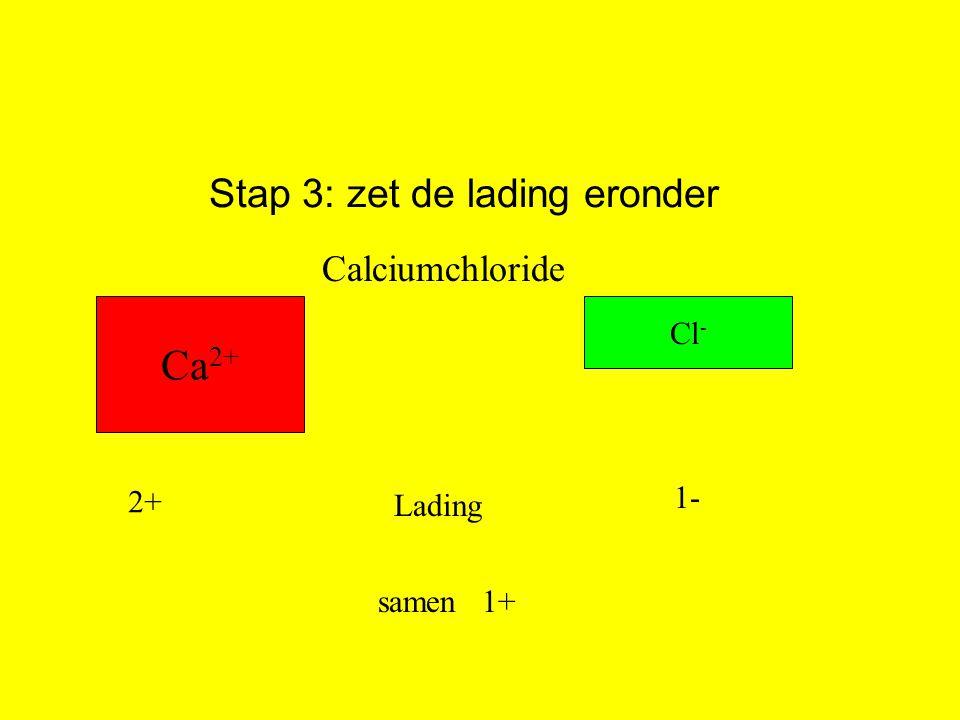 Stap 3: zet de lading eronder