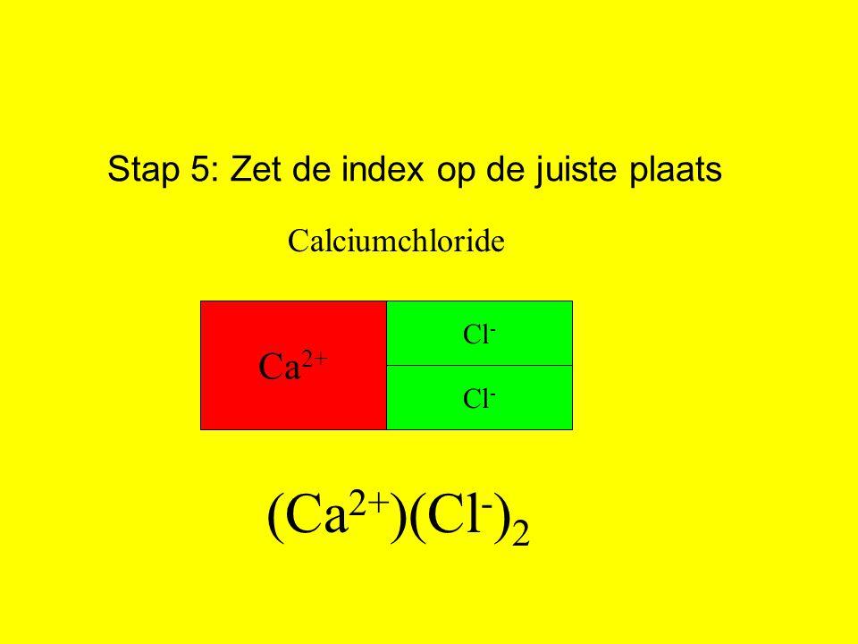 Stap 5: Zet de index op de juiste plaats