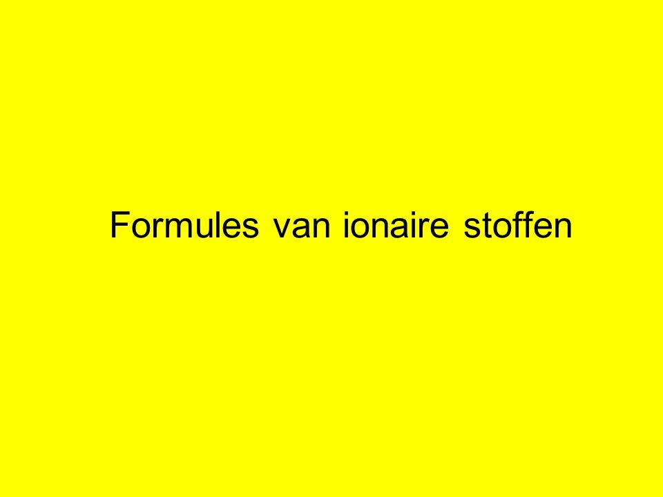 Formules van ionaire stoffen