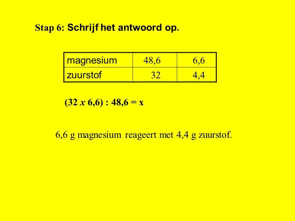 Stap 6: Schrijf het antwoord op.