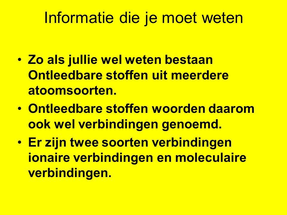 Informatie die je moet weten