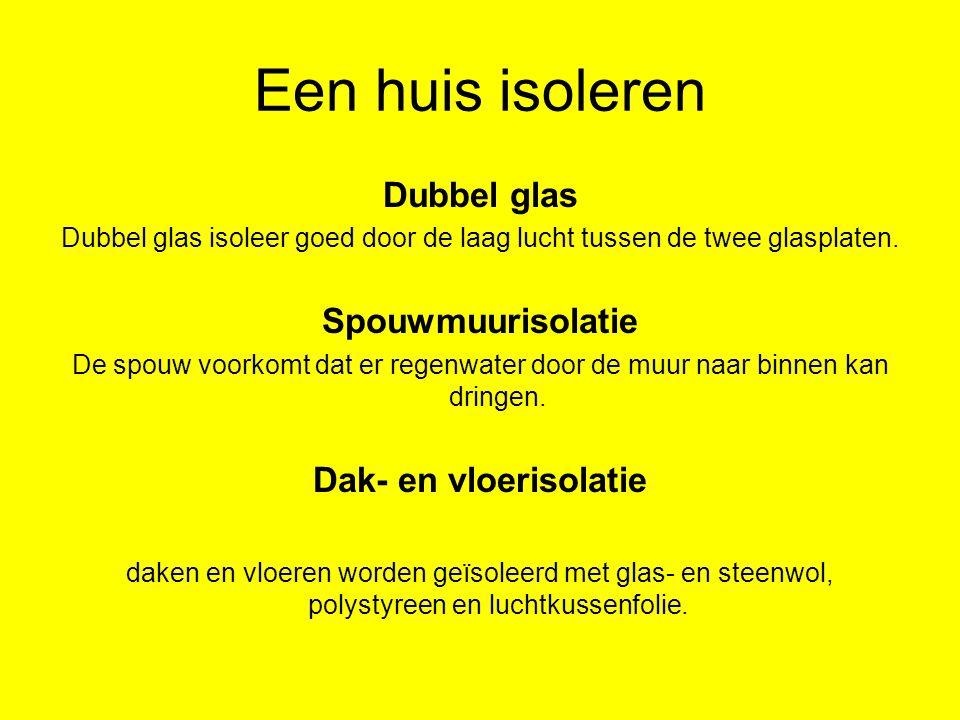 Dubbel glas isoleer goed door de laag lucht tussen de twee glasplaten.