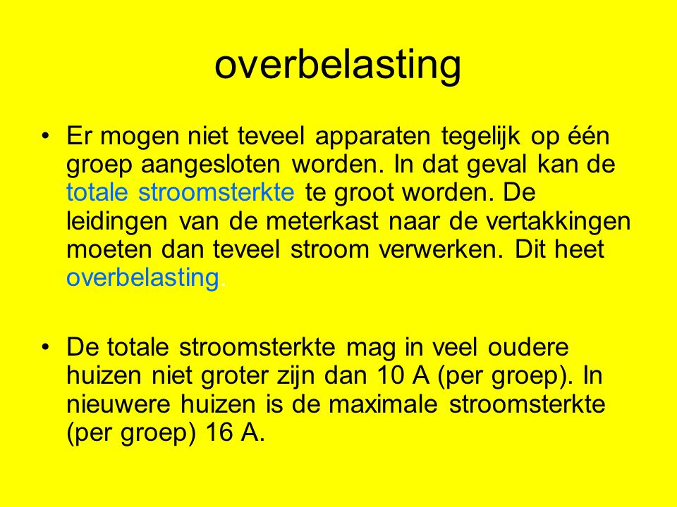 overbelasting