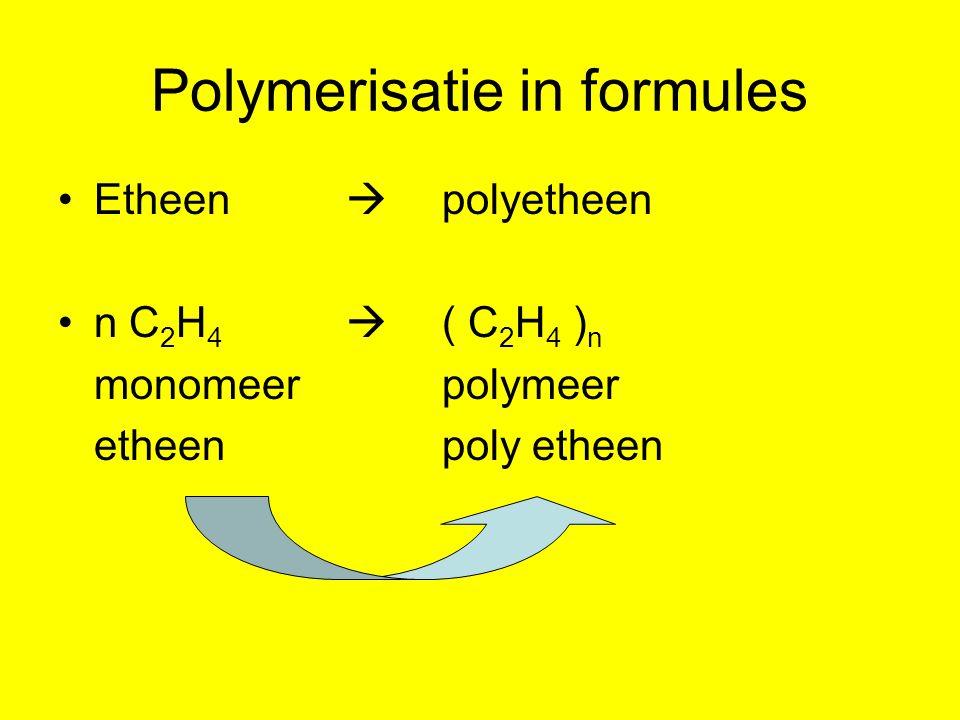 Polymerisatie in formules