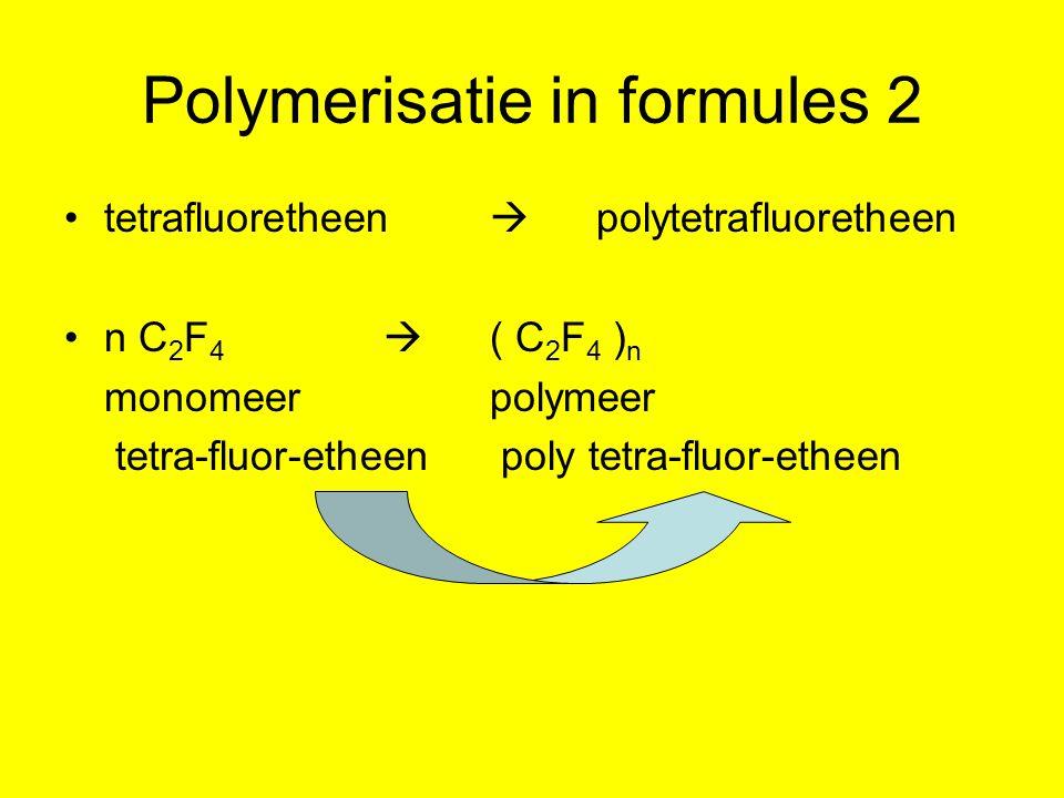 Polymerisatie in formules 2