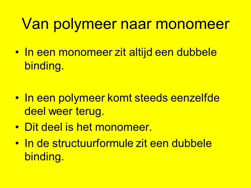 Van polymeer naar monomeer