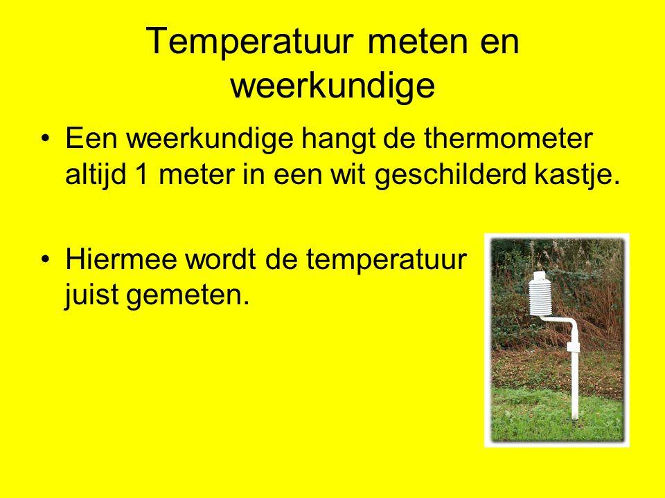 Temperatuur meten en weerkundige