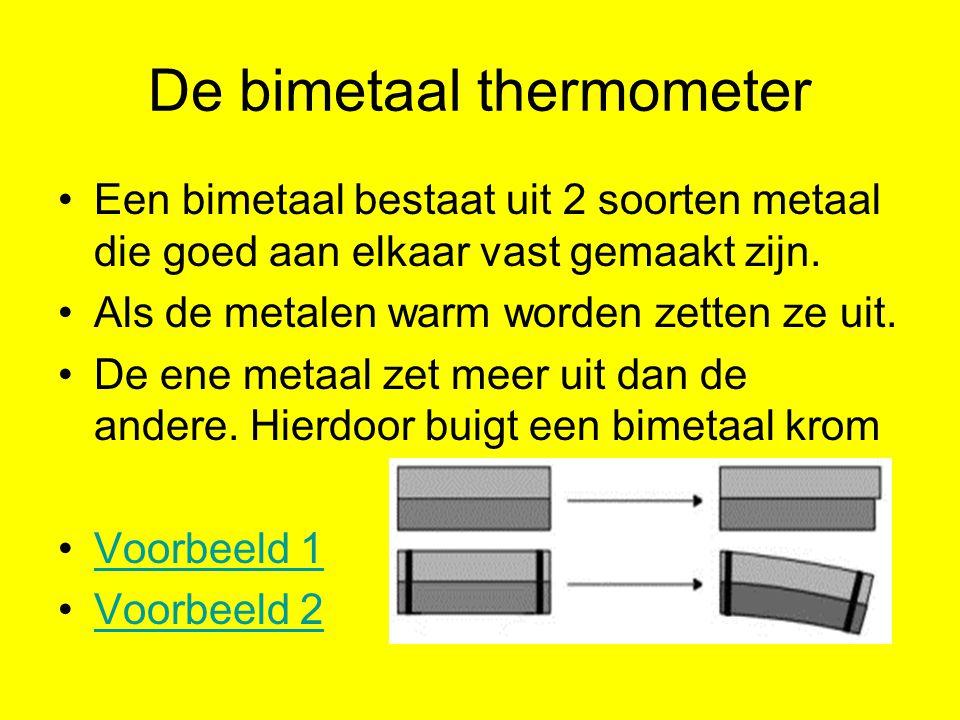 De bimetaal thermometer